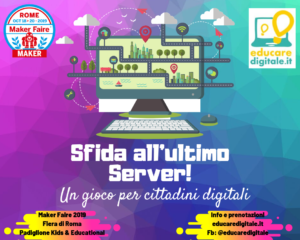 Copertina di Sfida all'ultimo Server workshop Maker Faire 2019