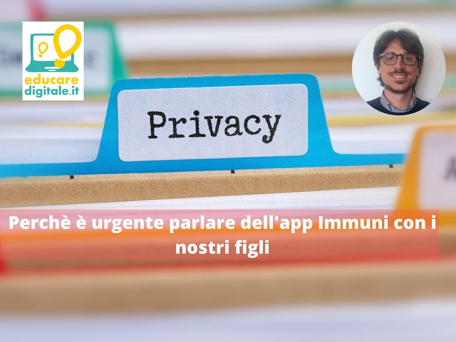App Immuni parlare ai figli